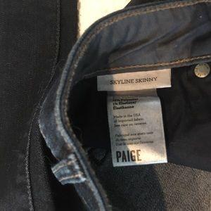PAIGE Jeans - 27 PAIGE skyline skinny dark denim wash  jeans NEW